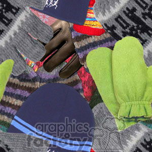 120306-mittens-light background. Royalty-free background # 372619
