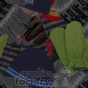 120306-mittens clipart. Royalty-free image # 372639