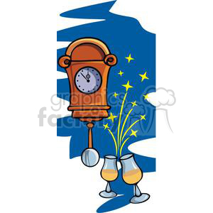 midnight on new years eve clipart. Royalty-free image # 145235
