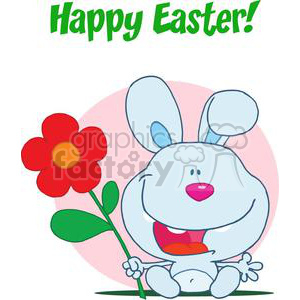 Happy Easter Blue Bunny clipart. Royalty-free image # 378055