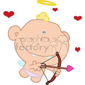 Cupid with bow and arrow clipart. Royalty-free image # 378090