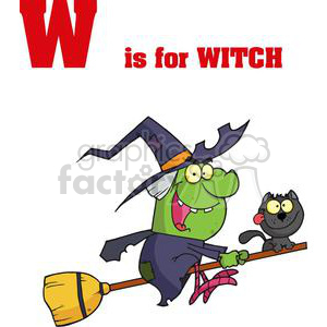 W is for Witch in Red Letters clipart. Royalty-free image # 378120