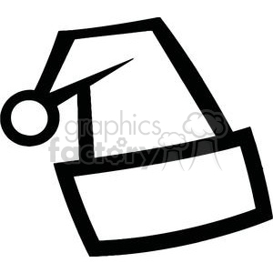 Black and White Santa Hat clipart. Royalty-free image # 378150