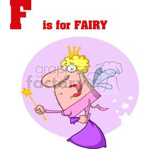 Alphabet Letter F as in Fairy clipart. Royalty-free image # 378255