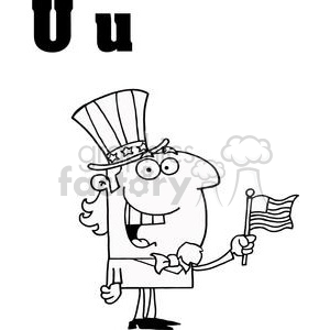 Alphabet  Letter U as in Uncle Sam clipart. Royalty-free image # 378310