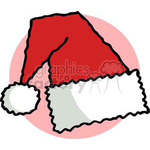 Santa Hat in front of a pink background clipart. Commercial use image # 378355