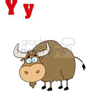 A big brown Yak clipart. Royalty-free image # 378475