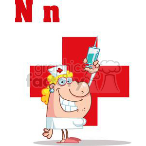 Nancy the Nurse clipart. Commercial use image # 378500