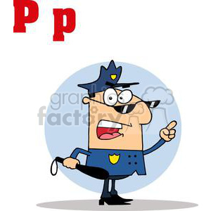 Cartoon Police Officer clipart. Royalty-free image # 378510