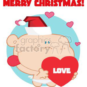 A Holiday Cupid with Heart clipart. Commercial use image # 378570