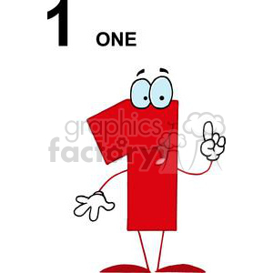 Happy Red Number 1 One clipart. Royalty-free image # 378575