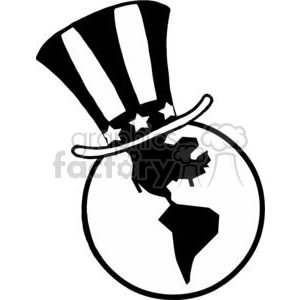 Globe with American Patriotic Hat clipart. Royalty-free image # 378987