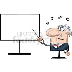 Professor Of Music And Teaching Holds Baton clipart. Royalty-free image # 378992