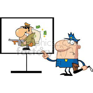 Police Officer Of The Dashboard Shows Gangster Man clipart. Royalty-free image # 378997