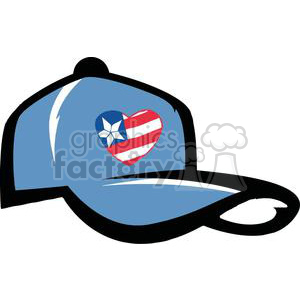 Blue Basketball Hat With American Flag
