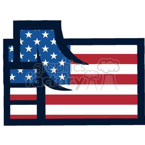 An American Patriotic Fist clipart. Commercial use image # 379112