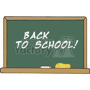School Chalk Board That Says Back to School! clipart. Commercial use image # 379122