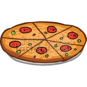 A Delicious Pepperoni Pizza clipart. Commercial use image # 379227