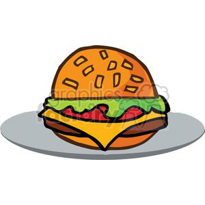 Fast Food Hamburger clipart. Commercial use image # 379242