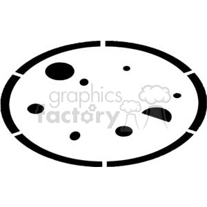 Pizza In Black and White clipart. Royalty-free image # 379282