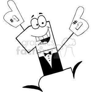 Number One Businessman Cartoon Character clipart. Commercial use image # 379327