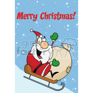 Holiday Greetings With Santa Claus clipart. Royalty-free image # 379332