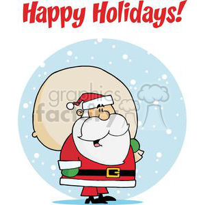 Holiday Greetings With Santa Claus clipart. Royalty-free image # 379342
