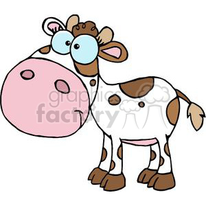 Cartoon Character Calf Different Color White