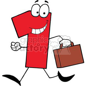 Business Number One Running With Suitcases clipart. Royalty-free image # 379407