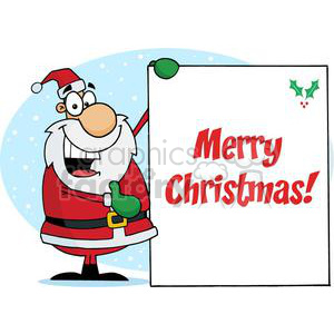 Holiday Greetings With Santa Claus clipart. Royalty-free image # 379412