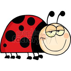 Mascot Cartoon Character Ladybug clipart. Royalty-free image # 379427