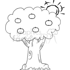 cartoon funny comical comic vector tree trees black white