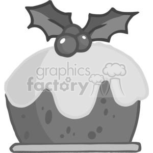 Cartoon Christmas Pudding clipart. Commercial use image # 379497