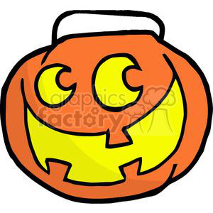 Cartoon Happy Halloween Pumkin clipart. Royalty-free image # 379517