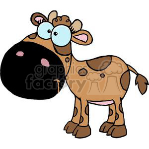 Cartoon Character Calf Different Color Brown