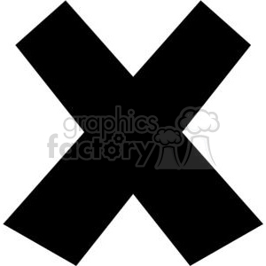 black x clipart. Commercial use image # 379612