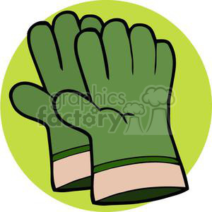 Green gardening gloves clipart. Royalty-free image # 379632