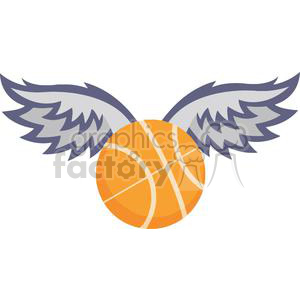 basketball with wings clipart. Royalty-free image # 379667