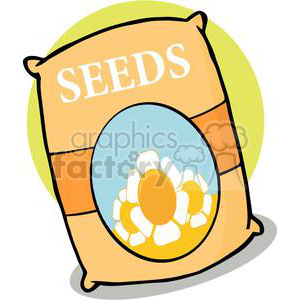 Bag of gardening seeds clipart. Royalty-free image # 379722