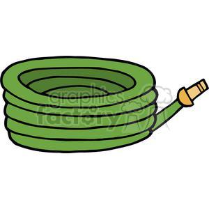 Royalty free green garden hose 379727 vector clip art for Manguera de jardin 1 2