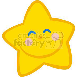 Royalty-Free Smiling Little Star Cartoon Character clipart. Commercial use image # 379767