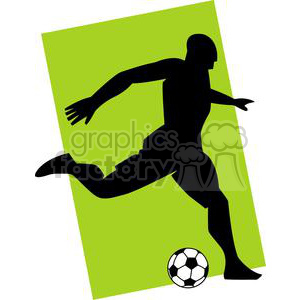 2533-Royalty-Free-Silhouette-Soccer-Player-With-Ball clipart. Royalty-free image # 379777