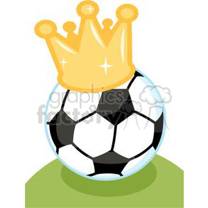Soccer ball with crown clipart. Royalty-free image # 379782
