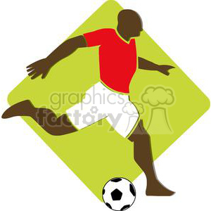 2499-Royalty-Free-Black-Soccer-Player-With-Balll clipart. Royalty-free image # 379812