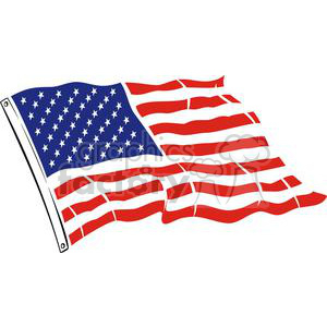 Large USA Flag clipart. Commercial use image # 379827