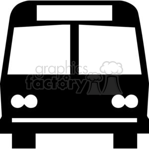 bus outline clipart. Commercial use image # 379832