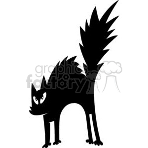Halloween Black Cat Clip Art clipart. Royalty-free image # 379842