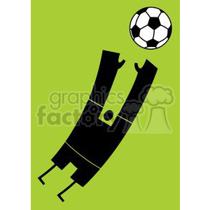 Silhouette soccer goalkeeper blocking the balll clipart. Royalty-free image # 379847