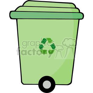 Royalty-Free garbage can clipart. Royalty-free image # 379862