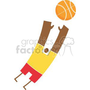 African American Basketball Player With a Basketball clipart. Royalty-free image # 379867